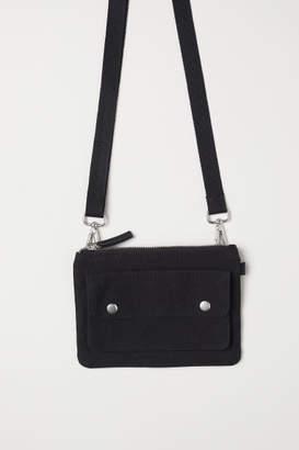 H&M Cotton Canvas Shoulder Bag - Black