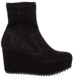 Pedro Garcia Urika Leather Wedge Booties