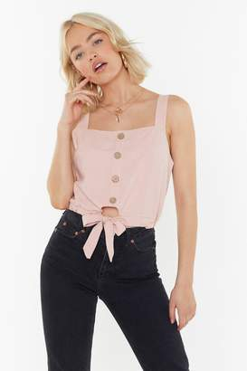 808025c9261 Nasty Gal Linen Tie Front Crop Top