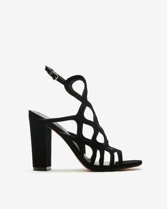 Express Cut-Out Heeled Sandals