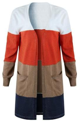 Goodnight Macaroon 'Gwenna' Color Block Open Front Cardigan
