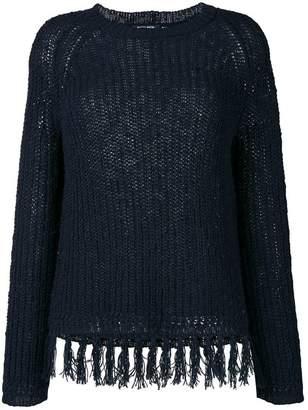 Woolrich frayed jumper