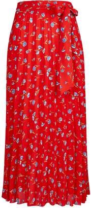 1e1153955 Dorothy Perkins Womens **Tall Red Floral Midi Skirt