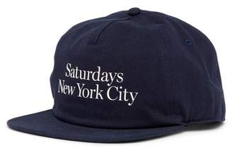 Saturdays NYC Stanley Washed Miller Snap Back