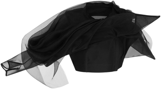 Rick Owens Draped Mesh Tulle and Cotton Top $2,540 thestylecure.com