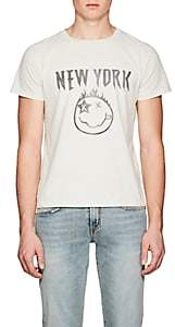 """Remi Relief Men's """"New York"""" Cotton Jersey T-Shirt - White"""