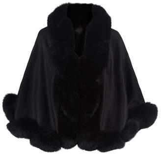 Harrods Cropped Fox Fur Trim Cape