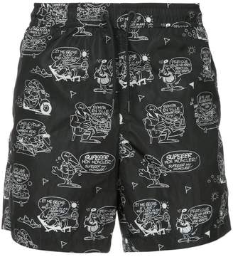 Moncler print drawstring shorts