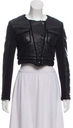Hache Leather Cropped Jacket