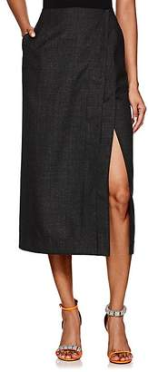 Calvin Klein Women's Checked Worsted Wool Wrap Skirt