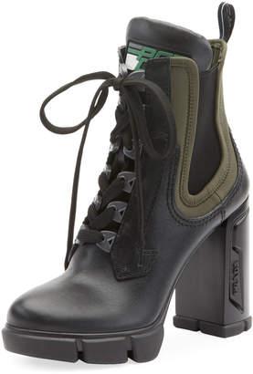 57f88fa70d2 Prada Lace Up Boots - ShopStyle