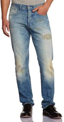 G Star G-STAR Men's 3301 Straight Straight Leg Jeans - Blue - 32W/34L