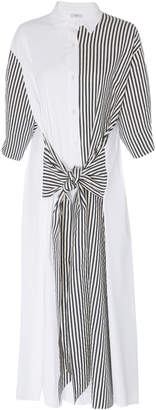 Tome Tie Front Cotton Shirtdress
