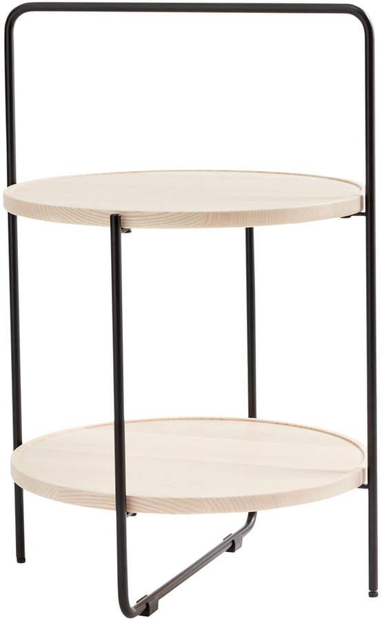Andersen Furniture - Beistelltisch Ø 46 cm, schwarz / Esche Natur