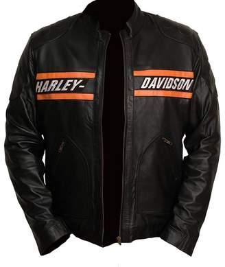 Harley-Davidson Perfect Colors Motorcycle Goldberg Leather Biker Real Jacket (XXL)