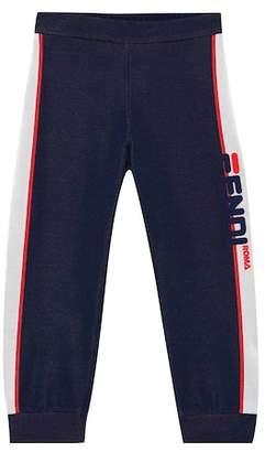 Fendi Kids MANIA cotton-blend trackpants