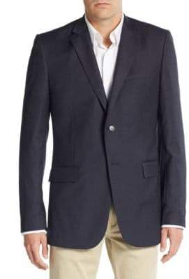 Theory Regular-Fit Navy Stripe Blazer