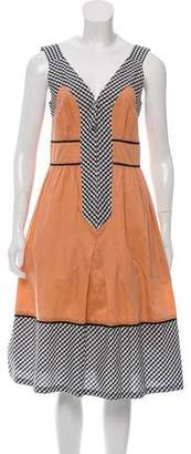 Cacharel Gingham-Accented Sleeveless Dress