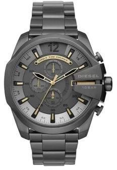 Diesel Mega Chief Gunmetal IP Chronograph Bracelet Watch