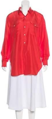 Polo Ralph Lauren Silk Button-Up Top