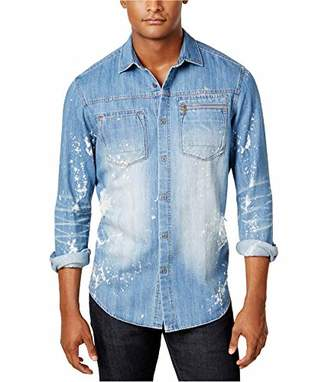 Sean John Men's Tall Size Long Sleeve Denim Shirt