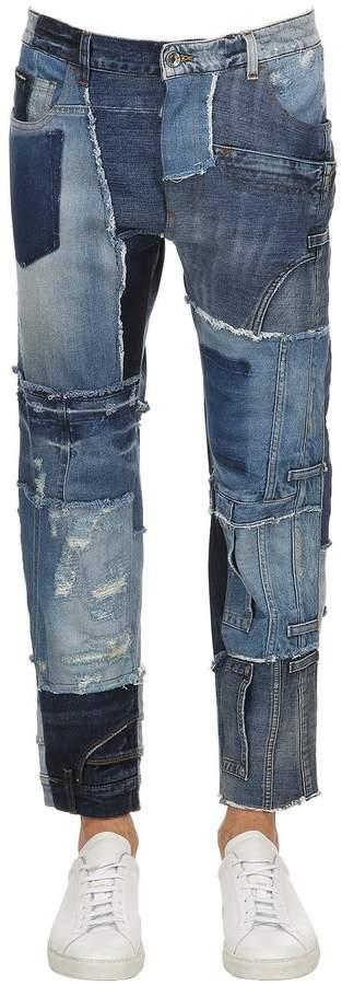 Baggy Patchwork Denim Jeans