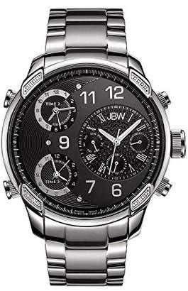 "JBW Men's J6248B ""G4"" Multi-Time Zone Lifestyle Diamond Watch"