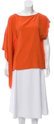 Karen Zambos Silk Drape Blouse