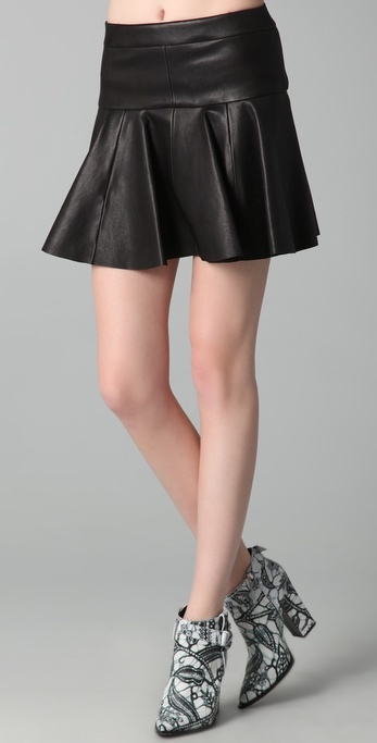 thakoon leather tulip skirt sold out thestylecure