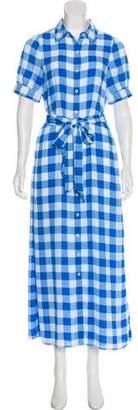 Draper James Plaid Maxi Dress