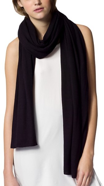 CARDIGAN by Lynne Hiriak Knit Scarf, Black