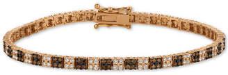 LeVian Le Vian Chocolatier Diamond Cluster Tennis Bracelet (2-1/10 ct. t.w.) in 14k Rose Gold