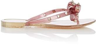 Valentino Women's Rockstud PVC Thong Sandals