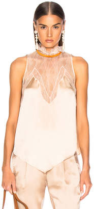 Jonathan Simkhai Lingerie Sleeveless Top in Almond & Orange | FWRD