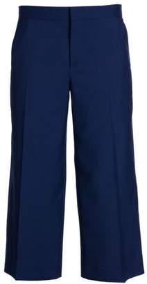Marni Tropical Cropped Wide-Leg Wool Pants