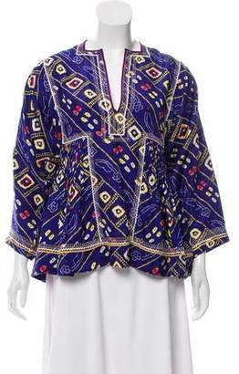 Isabel Marant Silk Embroidered Blouse w/ Tags