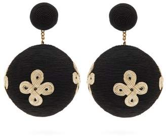 Pandora Rebecca De Ravenel Cord Clip On Earrings - Womens - Black
