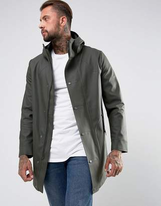 Hunter Rubberised Jacket in Khaki