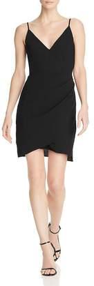 Amanda Uprichard Giovanni V-Neck Draped Mini Dress