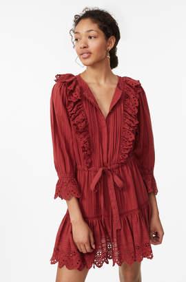 Rebecca Taylor La Vie Satin Stripe Dobby Dress