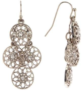 Melrose and Market Pave Disc Kite Earrings