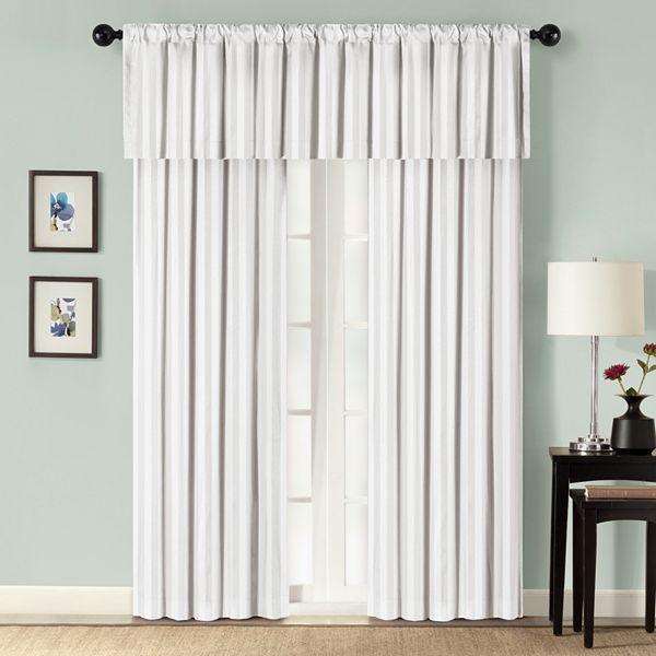 Croft & barrow® damask striped window treatments