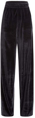 Vetements Wide Leg Velvet Pants