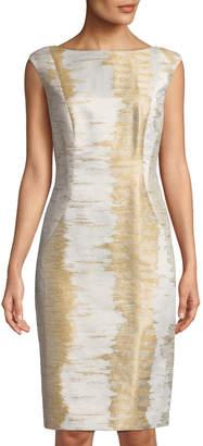 Lafayette 148 New York Welma Sleeveless Jacquard Sheath Dress