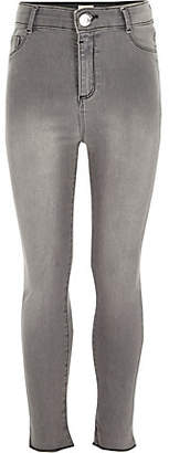 River Island Girls Grey high rise Molly jeggings