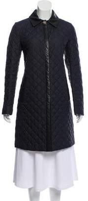 Salvatore Ferragamo Quilted Leather-Trimmed Coat