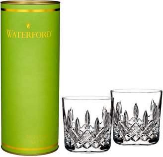 Waterford Wedgwood Giftology Lismore 9oz Double Old Fashion Tumbler Pair