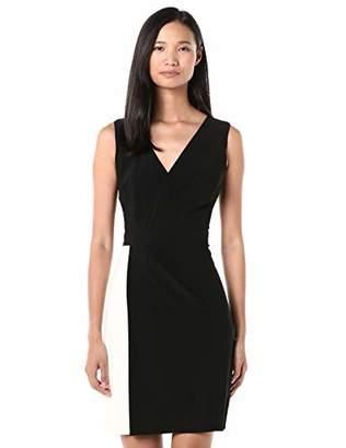 Chaps Women's Two-Tone Jersey Sleeveless Dress