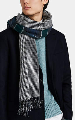 Drakes Drake's Men's Double-Faced Wool-Cashmere Scarf - Blue Pat.