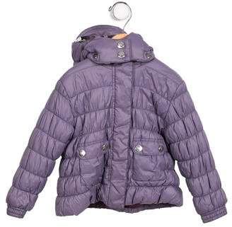 Burberry Girls' Hooded Quilted Coat